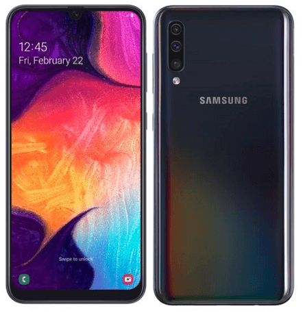 Samsung Galaxy A50, 128 GB, Black, 4G LTE (SGH-A505FZK) + JBL Speaker